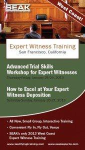 Expert Witness Testimony Training