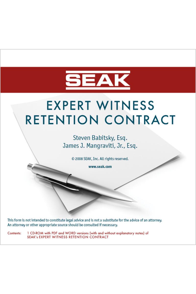 Expert Witness Retention Contract